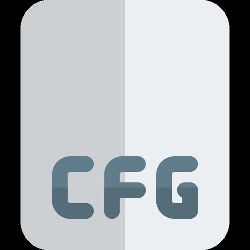 format de fichier cfg  Icône gratuit