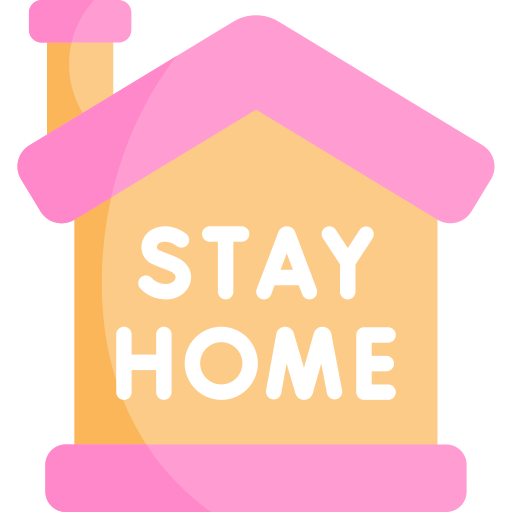 Stay home  free icon