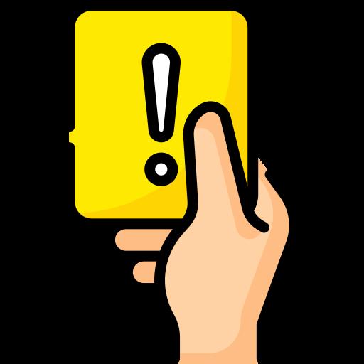 Yellow card  free icon