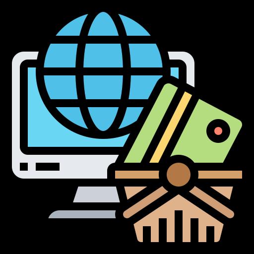 shopping en ligne  Icône gratuit