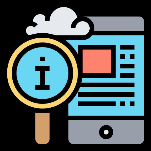 gestión de la información  icono gratis
