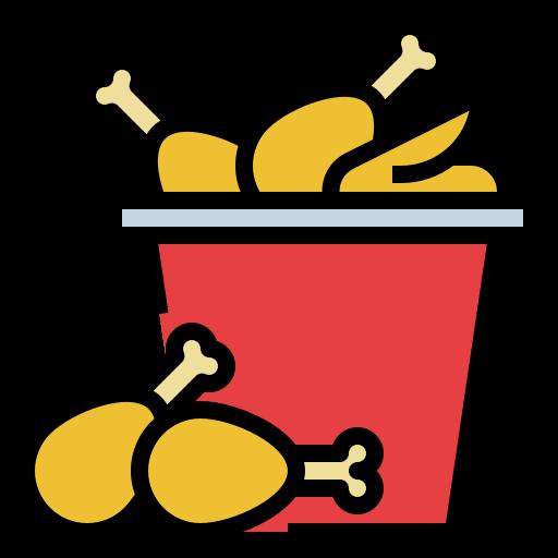 poulet frit  Icône gratuit