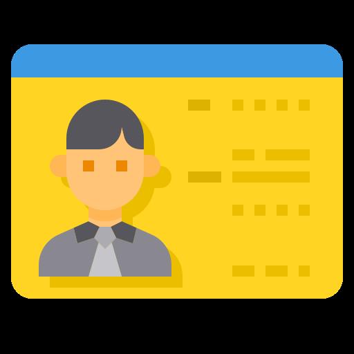 Driver license  free icon