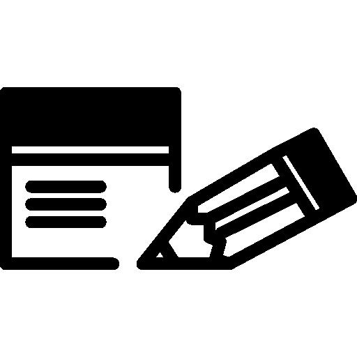 bloc de notas pequeño y contornos de lápiz  icono gratis