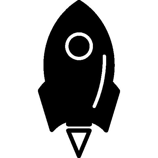원 윤곽선이있는 로켓 우주선 변형  무료 아이콘