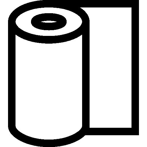 Рулон бумаги  бесплатно иконка