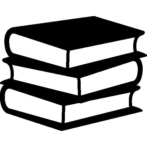 bücherstapel von drei  kostenlos Icon