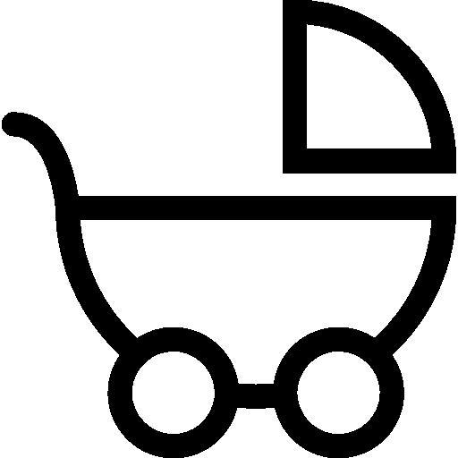 vue latérale du transport de bébé  Icône gratuit