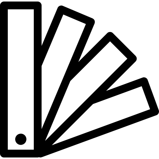 Catalog of rectangular pieces outlines  free icon