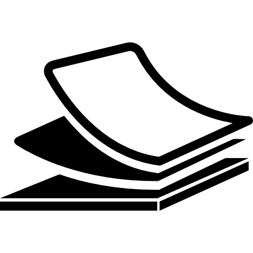 Сложенные канцелярские товары  бесплатно иконка
