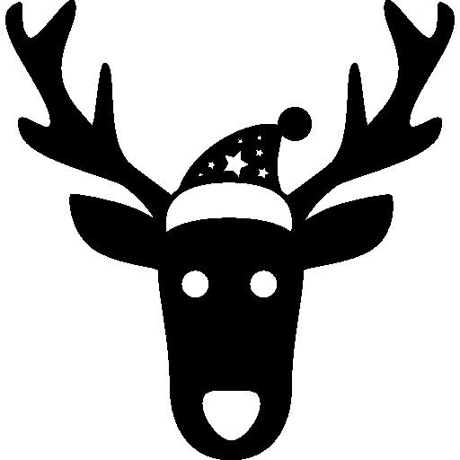 Рождественский олень лобная голова  бесплатно иконка