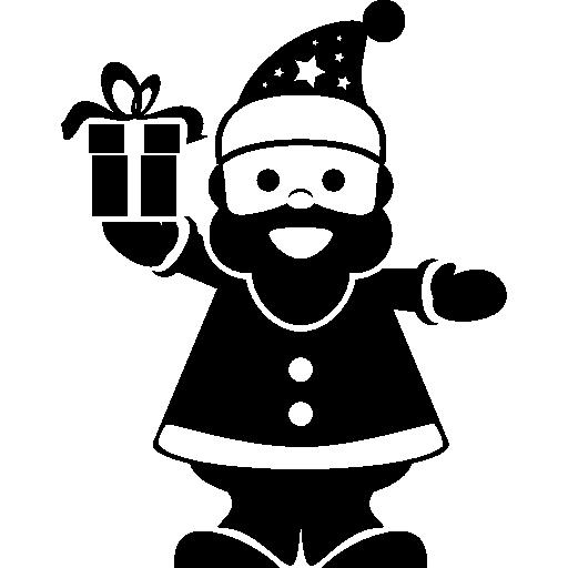 Санта-Клаус звонит в колокол  бесплатно иконка