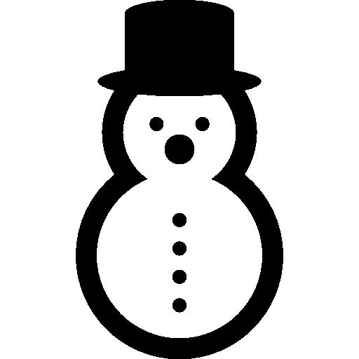 Зимний снеговик  бесплатно иконка
