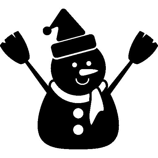 Снеговик в черном  бесплатно иконка