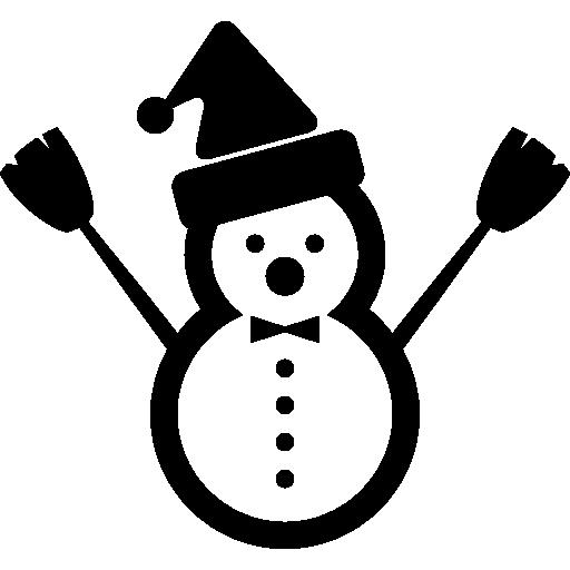 Рождественский снеговик с Санта-шляпой  бесплатно иконка