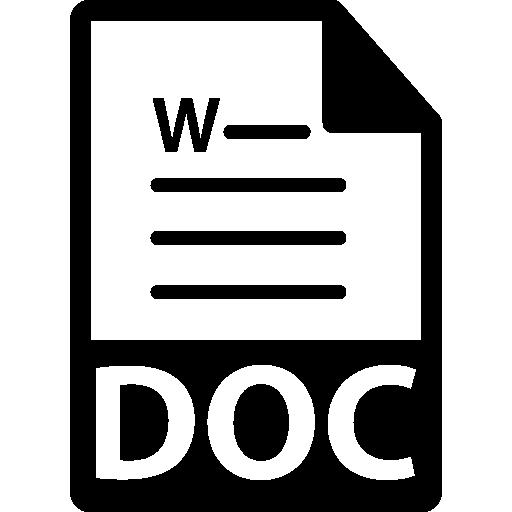 doc 파일 형식 기호  무료 아이콘