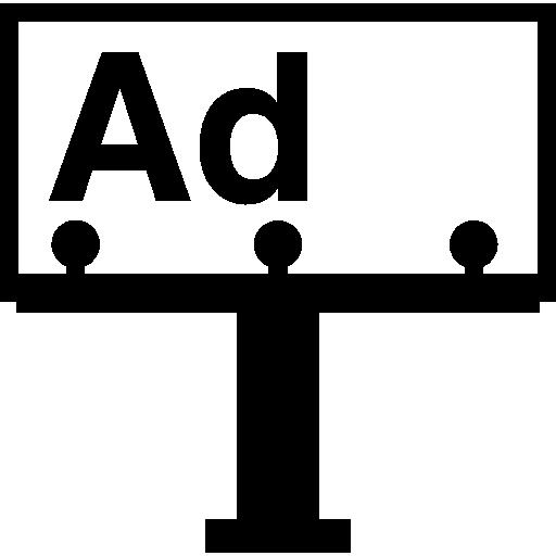 Рекламный щит  бесплатно иконка
