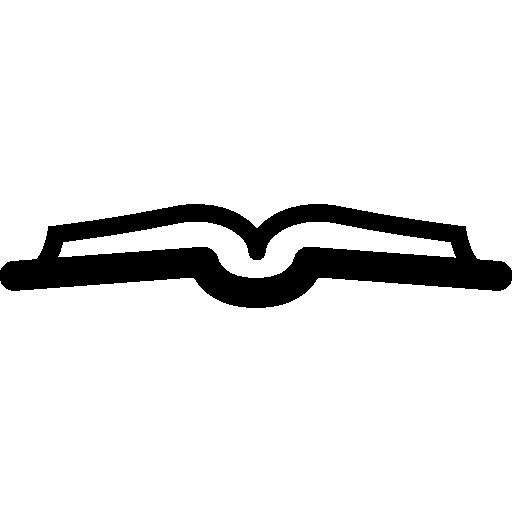 Вид сбоку открытой книги  бесплатно иконка