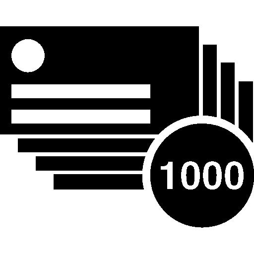 Визитная карточка 1000 штук  бесплатно иконка