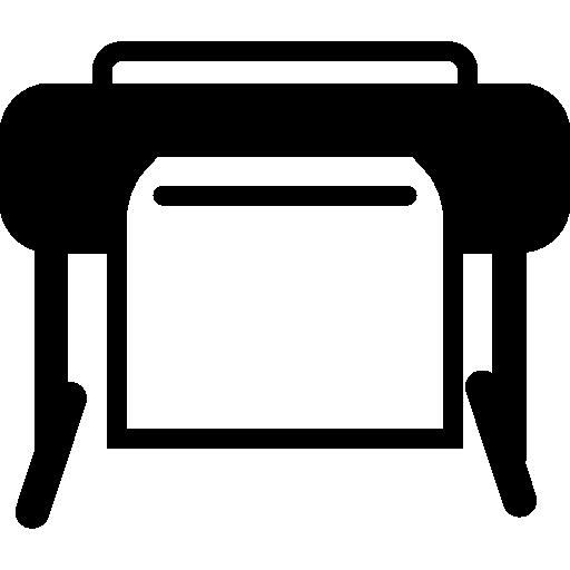 Вариант принтера с загрузкой бумаги  бесплатно иконка