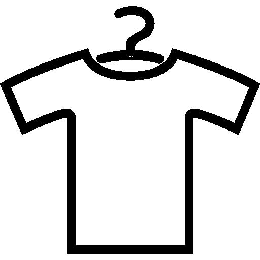 Контур рубашки с вешалкой  бесплатно иконка