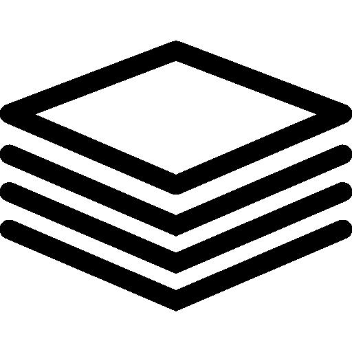 Стопка квадратных бумаг  бесплатно иконка