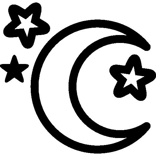 달과 별  무료 아이콘