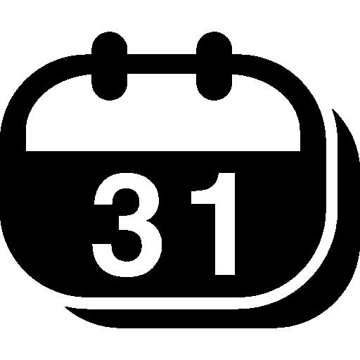 Круглый настенный календарь с пружиной  бесплатно иконка