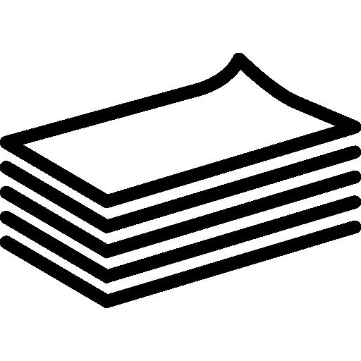 pile de contour de papier  Icône gratuit