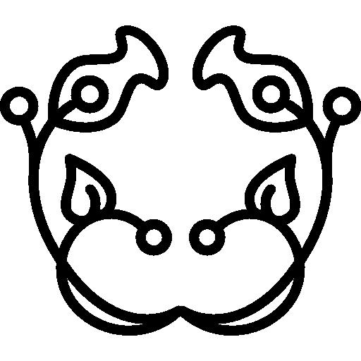 contour de cloche florale avec motif de feuilles et de vignes  Icône gratuit
