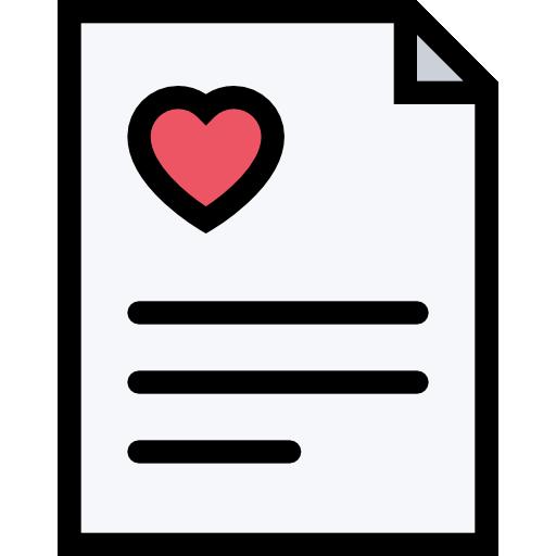 contrato de casamento  grátis ícone