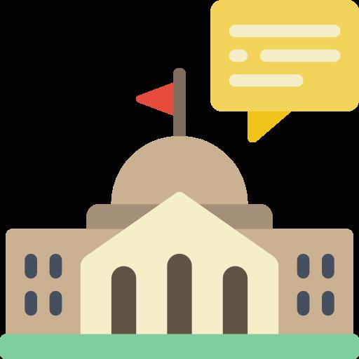 edificio del gobierno  icono gratis
