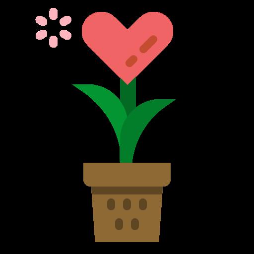 planta de amor  icono gratis