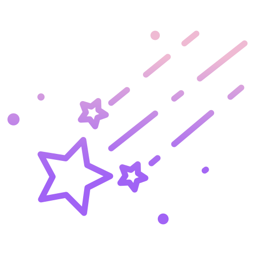 Shooting stars  free icon