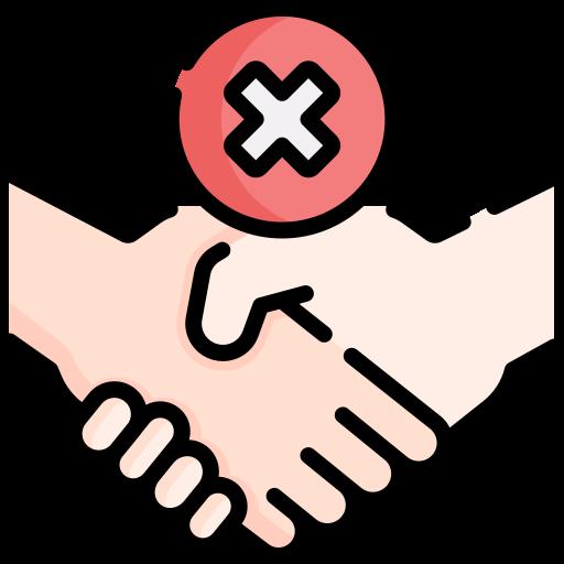 No handshake  free icon