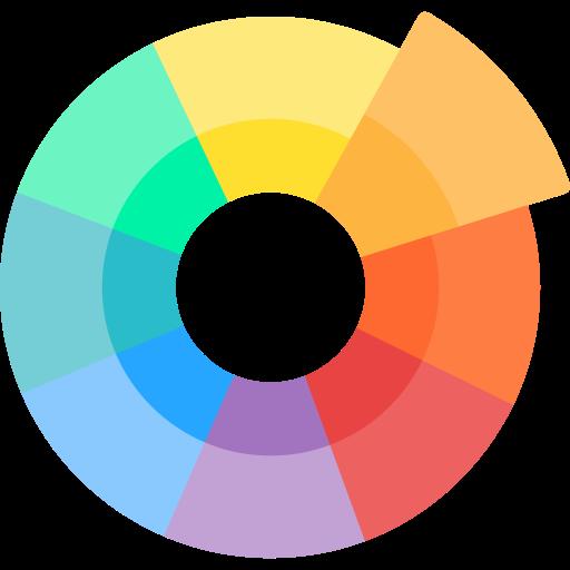 Color wheel  free icon