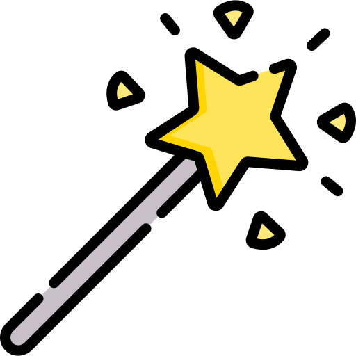 varita mágica icono gratis