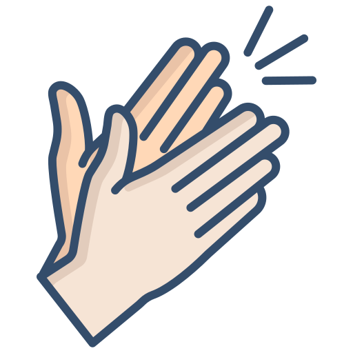 Clapping  free icon