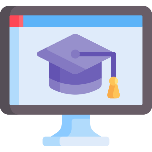 Online learning  free icon
