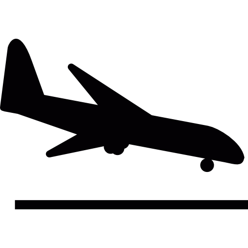 Посадка самолета  бесплатно иконка