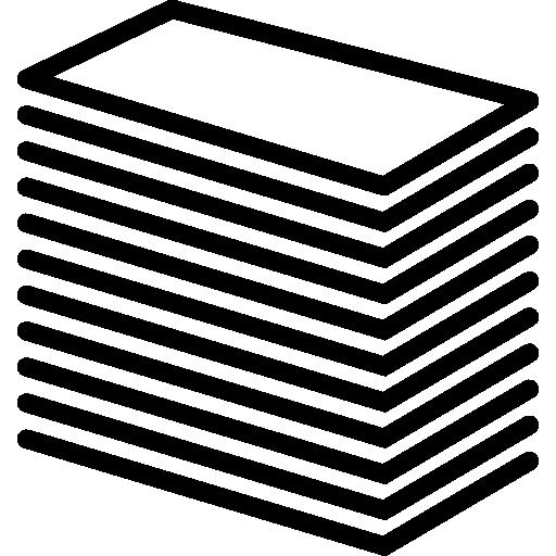 Сложенная печатная продукция  бесплатно иконка