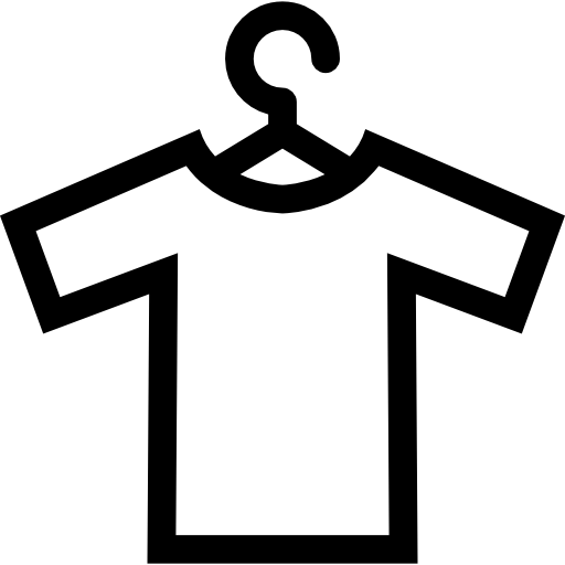 t-shirt sur un coup  Icône gratuit
