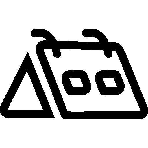calendário diário  grátis ícone