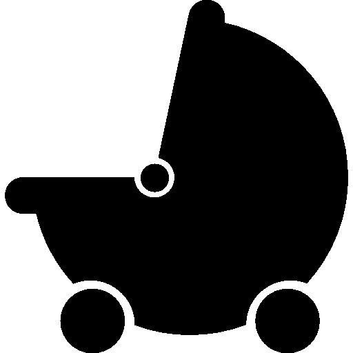 베이비 블랙 유모차 운송  무료 아이콘