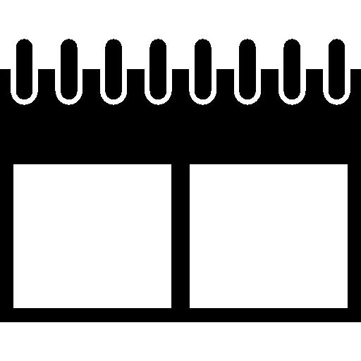 Вариант настенного календаря с пружинами  бесплатно иконка