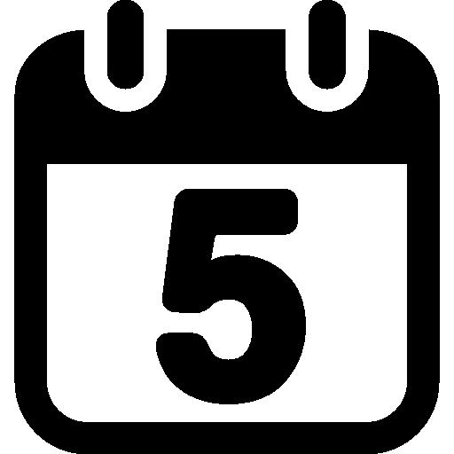 frühlingswand kalender quadratische form nummer 5  kostenlos Icon