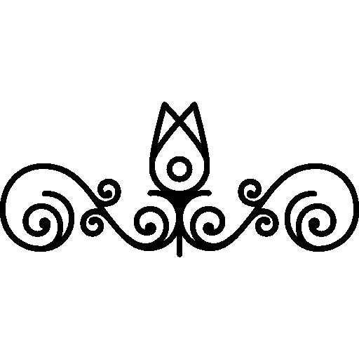 esquema de capullos de flores y diseño de vides.  icono gratis