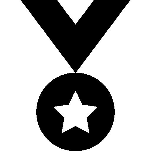 별표가있는 메달 변형  무료 아이콘