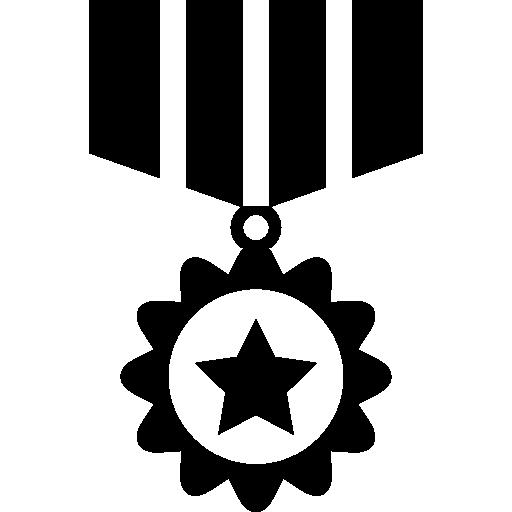 medalha de reconhecimento de guerra  grátis ícone