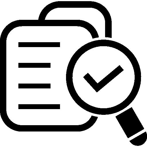 símbolo de base de datos verificado para interfaz  icono gratis